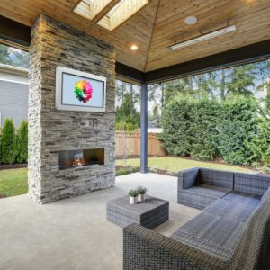 Horizon Outdoor TV available in White or Black finish